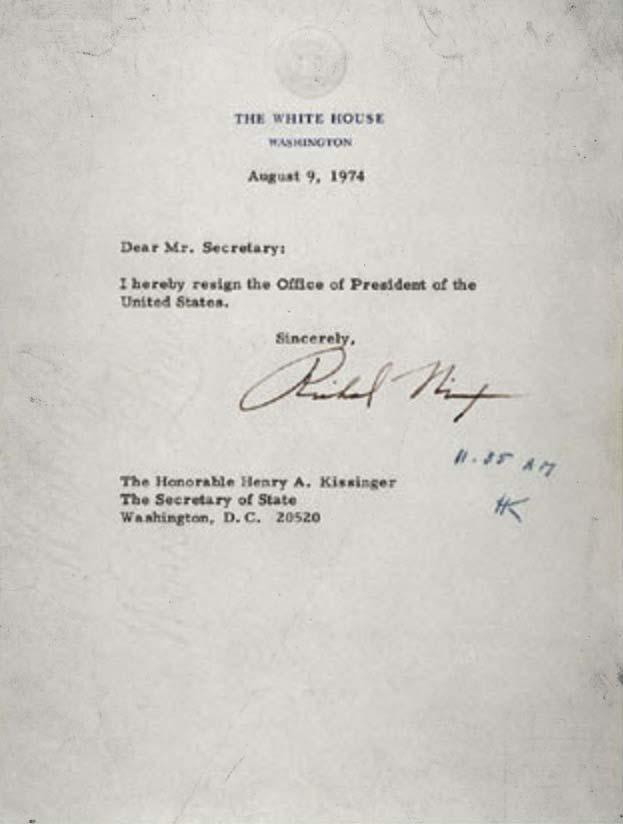 richard m. nixon's resignation letter ✭ american scraps