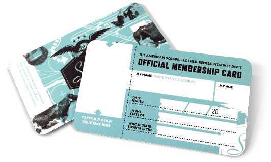 The American Scraps Membership Card